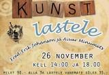 Plakat - Mustkunst Lastele Tartu 26.11.2010.